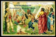 https://flic.kr/p/7xtJS4 | Tradecard - Indians #5 | Oberlindober Coffee (Innsbruck) c1910