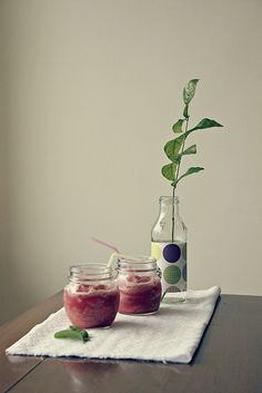 watermelon & coconut water slushies by Heidi Leon Monges, via Flickr