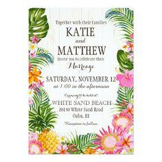 Luau Tropical Floral Beach Rustic Wedding