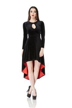 Jawbreaker Gothic Black Velvet Dress