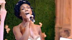 """Brandy sings a beatiful rendition of """"At Last"""" for Ray J and Princess' first dance as a married couple."""
