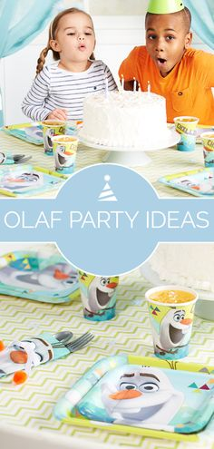 Olaf party supplies have arrived at Birthday Express! The adorable snowman who loves warm hugs is ready for a warm welcome, and these Frozen party supplies are great for girls' birthday parties and boys' birthday parties alike. Plates, napkins, cups, and more all feature a cool blue and green color scheme with designs taken right from Frozen and the new Frozen Fever. A white iced birthday cake makes a great finishing touch! Get more party ideas for Frozen and other themes on… Olaf Birthday Party, Olaf Party, Boy Birthday Parties, 2nd Birthday, Birthday Ideas, Disney Frozen Party, Frozen Theme, Frozen Christmas, Personalized Napkins