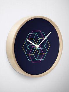 """Hex - Minimal Hexagonal Formation"" Clock by SamBunny Quartz Clock Mechanism, Modern Prints, Hand Coloring, Minimalism, Bunny, Cute Bunny, Rabbit, Rabbits, Baby Bunnies"