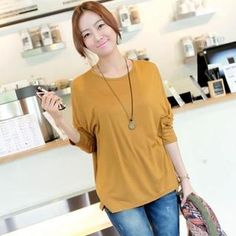 f179adb892f1 Buy  JOAMOM – Dolman-Sleeve Dip-Back Top   with Free International Shipping  at YesStyle.com. Browse and shop for thousands of Asian fashion items from  South ...