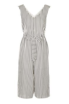 **Striped V-Neck Jumpsuit by Glamorous Petites - Topshop