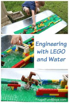 for Kids: Build a LEGO Water Wheel Engineering for Kids: Build a LEGO Water Wheel and More. What a fun building challenge!Engineering for Kids: Build a LEGO Water Wheel and More. What a fun building challenge! Lego For Kids, Science For Kids, Earth Science, Preschool Science, Science Classroom, Summer Science, Science Fun, Building For Kids, Lego Building