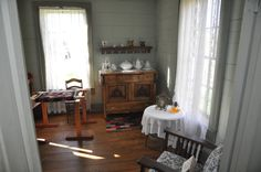 A room inside a Scottish home when the Scottish came to settle here. Highland Village Museum near Sydney, Canada