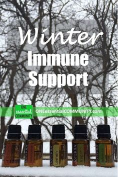Winter immune support with essential oils- includes diffuser blends, roller bottle blends, and diy recipes from ONE essential