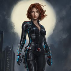 Avengers: Age of Ultron and Captain America: The Winter Solider - Black Widow concept art by Andy Park *