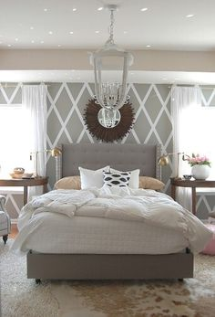 Love This Feature Wall And Headboard!