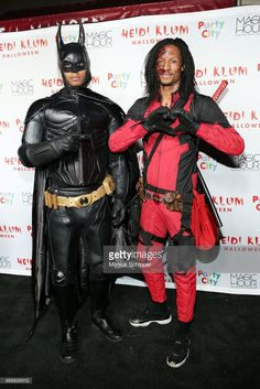 Laurent Bourgeois and Larry Nicolas Bourgeois of Les Twins attend Heidi Klum's 18th Annual Halloween Party at Magic Hour Rooftop Bar & Lounge on October 31, 2017 in New York City.