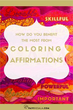 Coloring affirmations, sayings and quotes is a lot of fun, and also very energizing. Here are a few tips how coloring them can make your soul smile. Coloring Tips, Colouring, Anti Stress, Stress Relief, Affirmations, Smile, Make It Yourself, Sayings, Quotes
