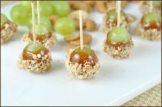 Post image for Caramel Apple Grapes and Ba-Bye to our No Junk Food Challenge! Appetizer Recipes, Snack Recipes, Dessert Recipes, Snacks, No Junk Food Challenge, Think Food, Caramel Apples, Caramel Bits, Just Desserts