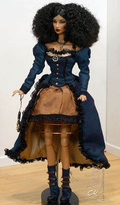 IFDC Steampunk Natalia: revealed!photos! » Corsetkitten's Workshop: a blog devoted to 1:6 dolls, props, & photostories