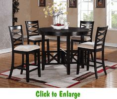 Epiphany 5 Piece Counter Height Dining Set by Standard at Furniture Warehouse | The $399 Sofa Store | Nashville, TN