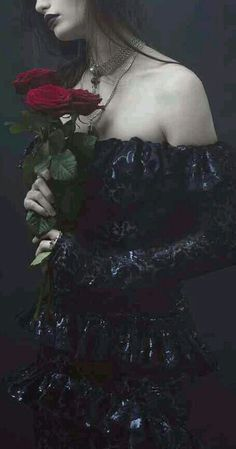 Dark Beauty... @-}---