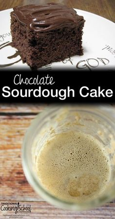 Chocolate Sourdough Cake | I gave a chocolate cake recipe a traditional foods makeover last weekend for a friend's birthday! Instead of white flour, white sugar, and vegetable oil, I used spelt flour, evaporated cane juice, and coconut oil. With 8+ hours of souring time, my cake was delicious, rich, chocolate-y, and healthy! | TraditionalCookingSchool.com
