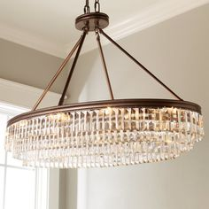 Prism Faceted Glass Layered Island Chandelier - Shades of Light