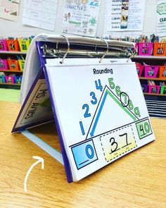 Check out how I used 3 pieces of Velcro to turn my binder into a mini easel! Swipe ➡️ to see the video! I used to have a wooden mini… 2nd Grade Teacher, Fourth Grade Math, Second Grade Math, Math Teacher, Math Classroom, Teaching Math, Grade 3, Rounding 3rd Grade, Teaching Ideas