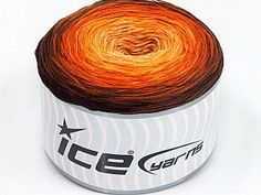 Cakes Ombre Yellow Orange Cream Brown Shades  Fiber Content 50% Acrylic, 50% Cotton, Yellow, Orange, Brand Ice Yarns, Cream, Brown Shades, Yarn Thickness 2 Fine  Sport, Baby, fnt2-55245 Ice Yarns, Ombre Cake, Brown Shades, Orange, Yellow, Fiber, Turquoise, Cream, Crochet