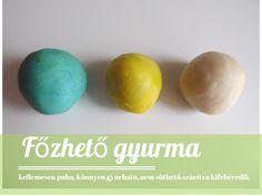 Gyurmavarázs: szuper gyurmák házilag | A napfény illata Diy And Crafts, Crafts For Kids, Salt Dough, Diy Toys, Slime, Clay, Homemade, Breakfast, Origami