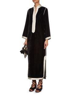 Alia embroidered velvet kaftan | Muzungu Sisters | MATCHESFASHION.COM UK