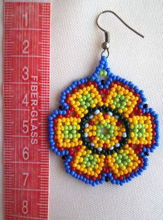Your place to buy and sell all things handmade Seed Bead Jewelry, Seed Bead Earrings, Flower Earrings, Etsy Earrings, Beaded Earrings, Beaded Jewelry, Crochet Earrings, Beaded Flowers Patterns, Beading Patterns