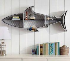 настенная полка в виде рыбы