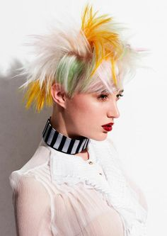 Couture Punk by Jo Bellamy | See the full #colour collection at salonmagazine.ca #springtime