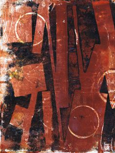 """""""Sepia Geometry"""" original acrylic monotype by Sharon Giles Gelatin, Geometry, Texture, The Originals, Abstract, Wood, Prints, Plate, Inspiration"""