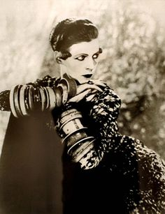 Nancy Cunard.she devoted her life to fight against racism and fascism going against her family's traditional values.a muse to several great literary and artistic minds in the early 20th century. Photo by Man Ray
