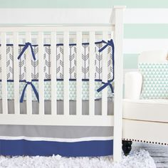 Caden Lane Crib Bedding Set Arrow Navy @LaylaGrayce