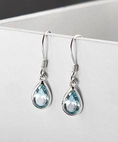 ebcc4e13c Take a look at this Sterling Silver Blue Topaz Teardrop Earrings today!