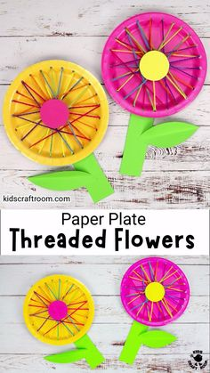 Paper Plate Crafts For Kids, Summer Crafts For Kids, Art For Kids, Spring Crafts For Preschoolers, Preschool Summer Crafts, Back To School Crafts For Kids, Paper Plate Art, Easy Preschool Crafts, Garden Crafts For Kids