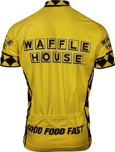 Really Redneck Men Waffle House bike jersey Redneck Clothes, Waffle House, Waffles, Health Fitness, Sleeves, Cycling, Men, Bike, Image