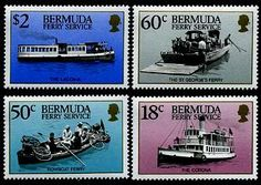 Bermuda Ferry Service Stamps Postage Stamps, Stamps