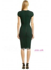 Sheath/Column Round Zipper Short Formal Dresses