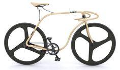 Gorgeous wooden bike.