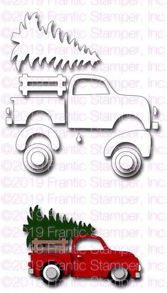 Frantic Stamper Precision Die - Bringing Home the Tree-For those of us living in forested areas, Christmas brings the tradition of going out in the wo Christmas Red Truck, Christmas Wood, Fall Crafts, Holiday Crafts, Felt Ornaments, Christmas Ornaments, Truck Crafts, Wood Crafts, Paper Crafts