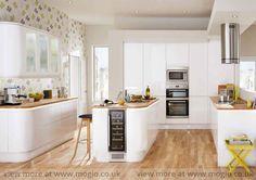 Gloss White Integrated Kitchen