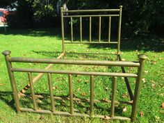 ANTIQUE BRASS & IRON FULL SIZE BED CLASSIC COMPLETE HEAD & FOOTBOARD,RAILS,ETC