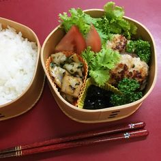 Meat stuffed with shiitake mushrooms – Japanese lunch box