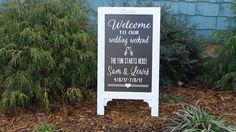 Wedding Chalk Board Sign, Store Front, Baby Shower Idea, Large Chalkboard, Welcome Wedding Sign, Barn Wedding Sign by CarmelOakDesigns on Etsy