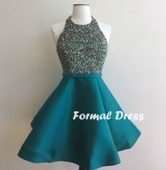 Pretty Short Prom Dresses,A-line Backless Homecoming Dress,Party Dress