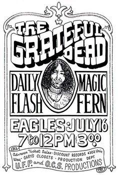 The Grateful Dead - Seattle - 1965 - Concert Poster