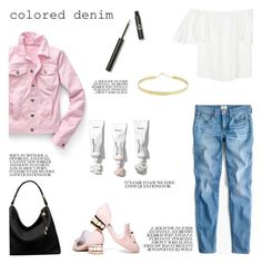"""""""Colored Denim"""" by lilymadelyn ❤ liked on Polyvore featuring Talbots, J.Crew, Valentino, Jeffrey Campbell, Michael Kors, Sigma and Lana"""