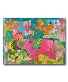 Look at this #zulilyfind! Pink Elephant 'Amazing You' Wrapped Canvas #zulilyfinds