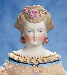 View Catalog Item - Theriault's Antique Doll Auctions Victorian Dolls, Antique Dolls, Vintage Dolls, Doll Head, Doll Face, China Dolls, Doll Costume, Ants, Doll Toys