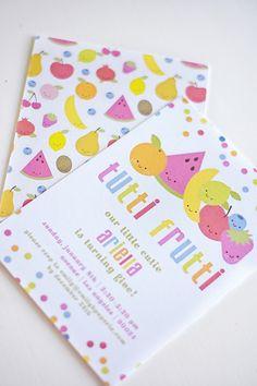 Tutti Frutti Party Invite from a Colorful Tutti Frutti Birthday Party on Kara's Party Ideas   KarasPartyIdeas.com (7)