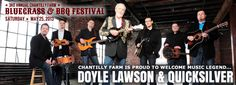Chantilly Farm is proud to welcome music legend Doyle Lawson & Quicksilver to headline the 3rd Annual Chantilly Farm Bluegrass Festival on Saturday, May 25, 2013 from 10am-10pm. Other great performances from Lonesome River Band, Junior Sisk & Ramblers Choice, Deer Run Drifters, The Blackberries, Mac & Jenny Traynham with Janet Turner, Bernie Coveney & Andrea Marshall, Students of Floyd Music School, and the Back Porch Cloggers! Kids 12 & under are FREE!  To learn more visit…